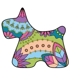 Scottish terrier colorful silhouette vector