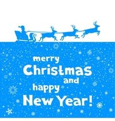 Christmas greetings from santa vector