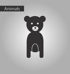Black and white style icon bear vector