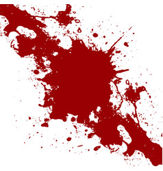 Ink red paint splatter background vector