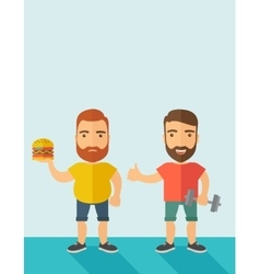 Men wearing shorts and sleeveless tops vector