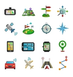 Location flat icon set vector
