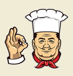 Chef face vector