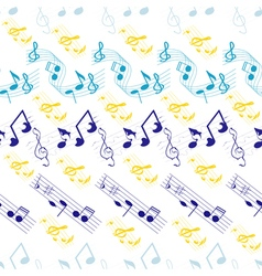 seamless background music vector image
