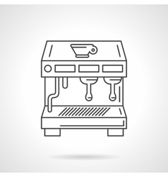 Flat thin line coffee shop equipment icon vector