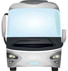 Grey bus vector