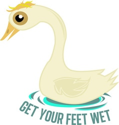 Wet feet vector