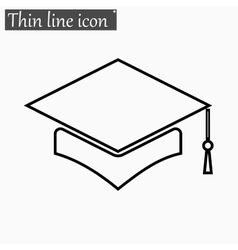 Mortar board or graduation cap icon style vector