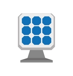 Solar panel icon save energy design vector