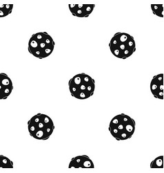 alone planet pattern seamless black vector image vector image