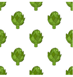 artichoke seamless pattern cartoon style vector image vector image