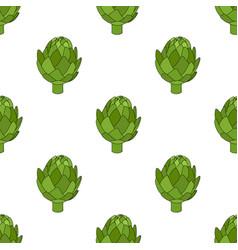 artichoke seamless pattern cartoon style vector image vector image