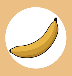 banana healthy fresh image vector image
