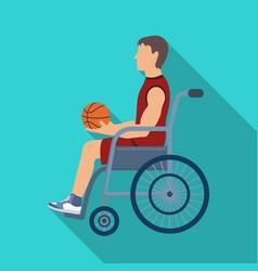 Basketball player disabledbasketball single icon vector