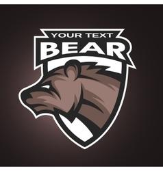Bear emblem logo for a sports team vector