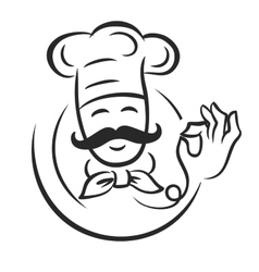 Black chef vector