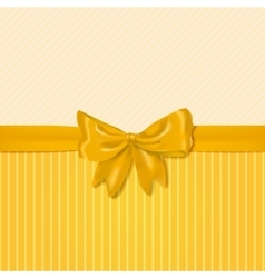 Card template with yellow bow vector