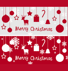 Christmas card template with many ornaments vector