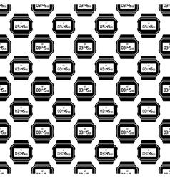 Clock pattern seamless vector image vector image