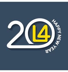 creative happy new year 2014 design vector image vector image