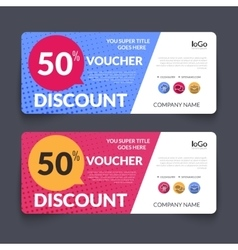 Discount Voucher Design Template with colorful vector image