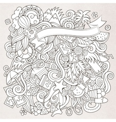 Doodles abstract decorative summer sketch vector