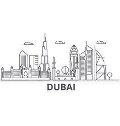 dubai architecture line skyline vector image vector image