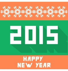 Flat new year background vector image vector image
