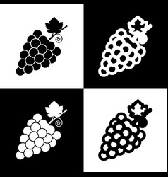 Grapes sign black and white vector