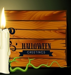 Halloween candle vector