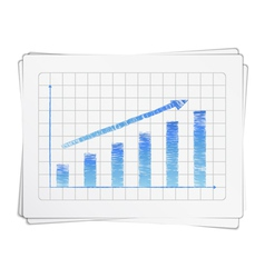 Hand drawn bar graph vector