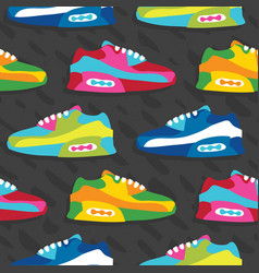 Hand drawn cartoon style sneaker shoes vector