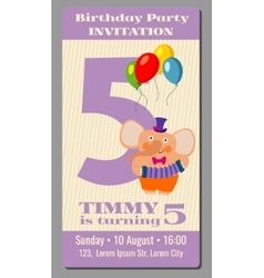 Happy birthday lovely card with funny vector image
