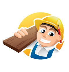 Happy carpenter vector image