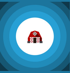 Isolated barn flat icon farmhouse element vector