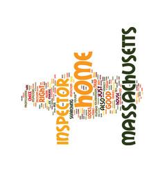Massachusetts home inspector text background word vector