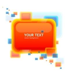 Orange speech template tor your text vector