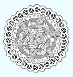 Ornamental mandala circle lace ornament pattern vector