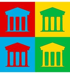 Pop art bank vector