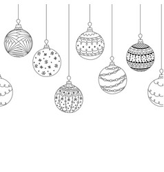 seamless decorative border from christmas ball vector image