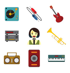 Simple musical related graphic set vector