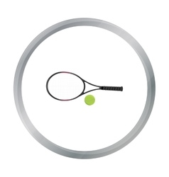 Tennis icon cartoon Single sport icon from the vector image vector image