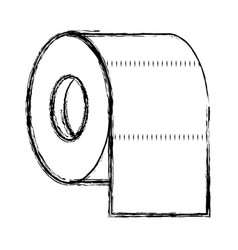 toilet paper roll in monochrome blurred silhouette vector image