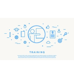 training concept infographic thin line design vector image vector image