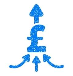 Unite pound payments grainy texture icon vector