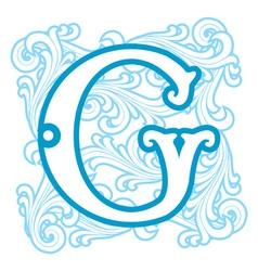 Winter vintage letter g vector