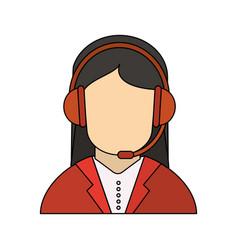Woman call center vector