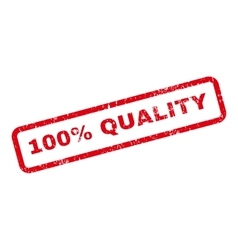 100 Percent Quality Text Rubber Stamp vector image