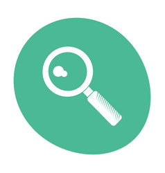 Search discovery loupe icon color vector