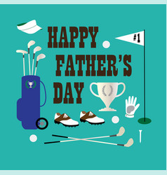 Golf happy fathers day vector
